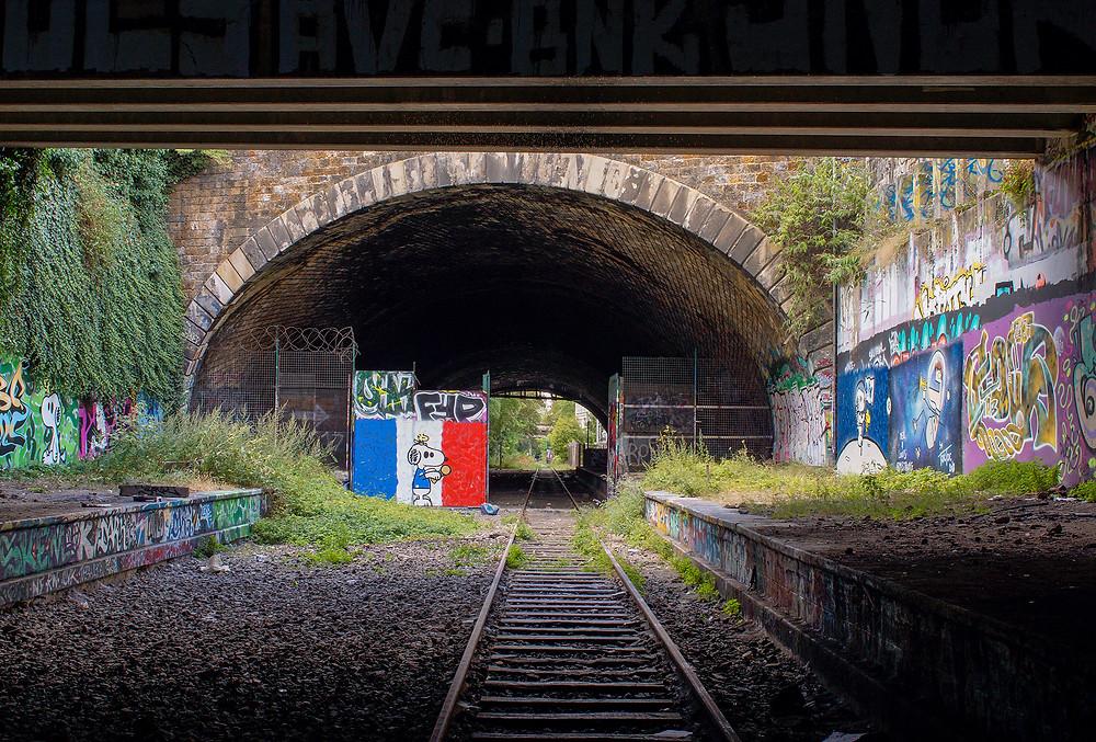 Den gamle jernbane er indtaget af naturen. Biodiversiteten er i top. Der er nemlig registreret 200 forskellige planter langs banen.