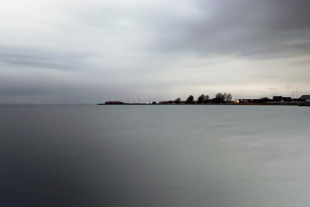 7. december - Nibe lystbådehavn i gråvejr (f20 15 sek. ISO-100)