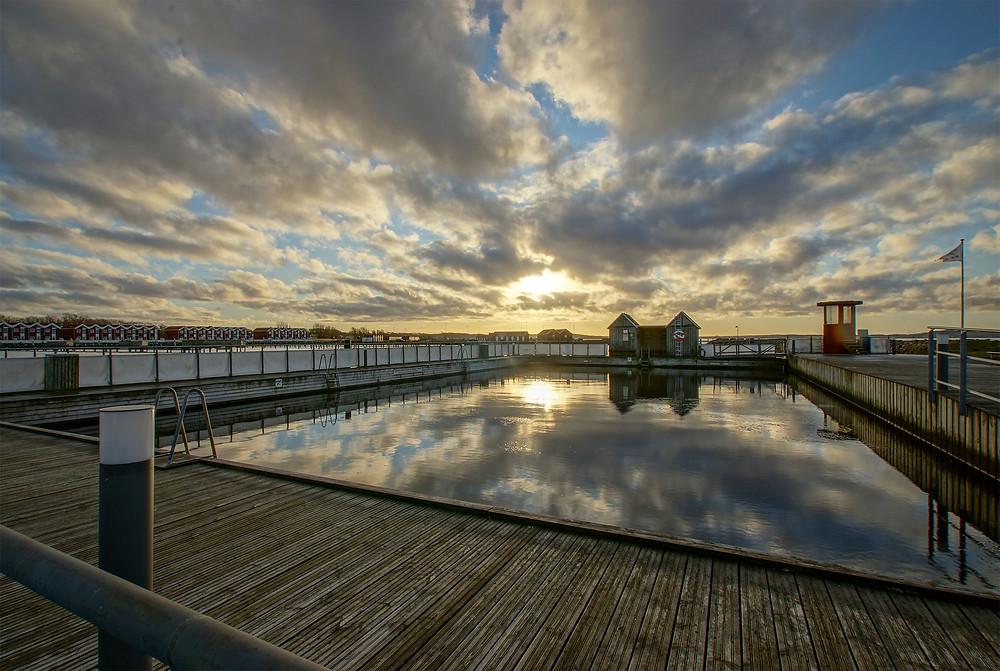 Havnebadet i Nibe er også et sted, der rummer gode muligheder for et godt skud.