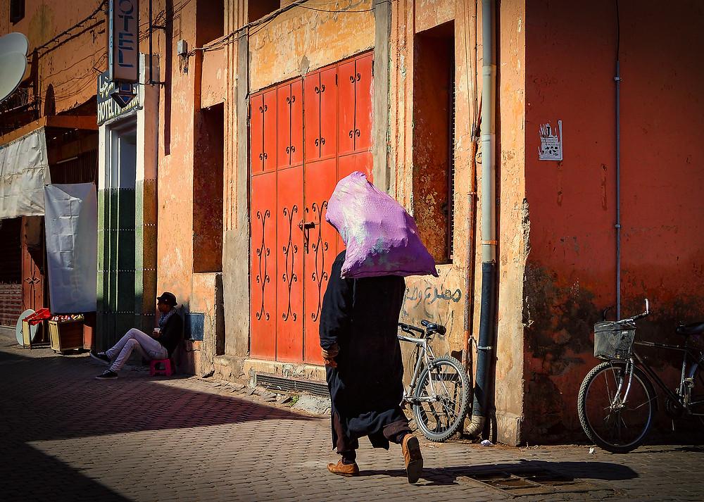 En almindelig gade i down town Marrakesh