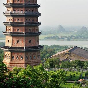 Aussicht im Bai Dinh Palast