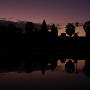 Angkor Wat beim Sonnenaufgang