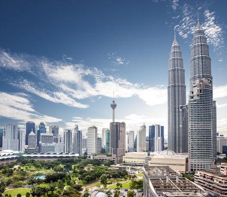 Landscape of  Kuala lumpur skyline, Mala