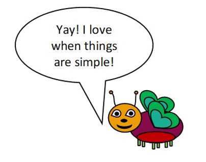 cute bug saying love when things are sim