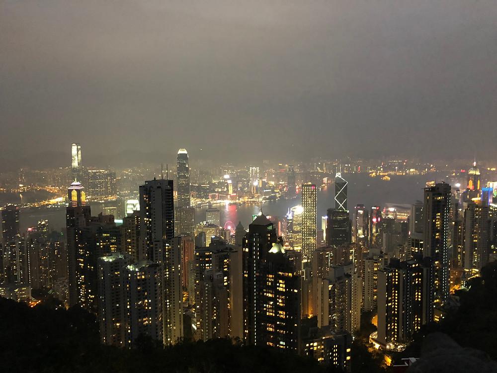 Utsikt från Victoria Peak Hong Kong