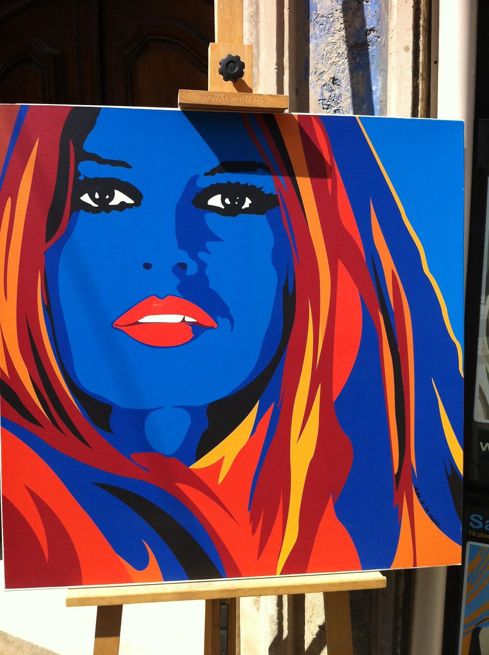 Birgitte Bardot av konstnären Sasha
