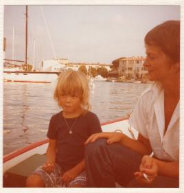 Min mamma och syster i St-Tropez
