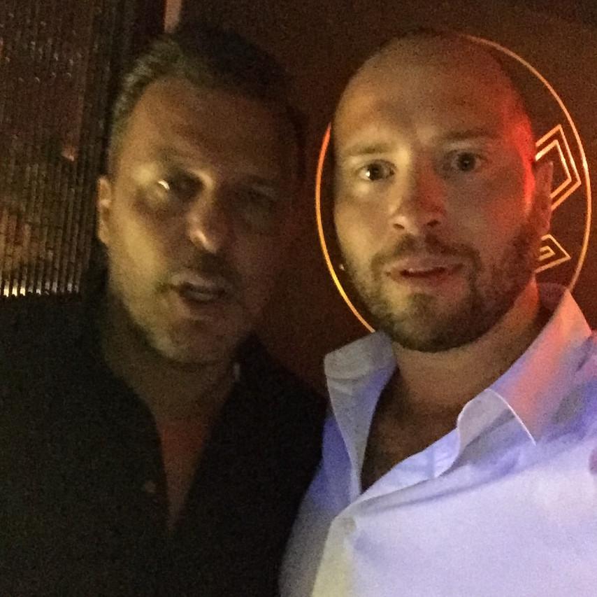 Jean Roch och Charlie RIngenson på VIP room