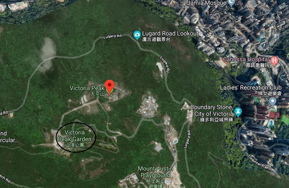 Victoria Peak garden satelite view