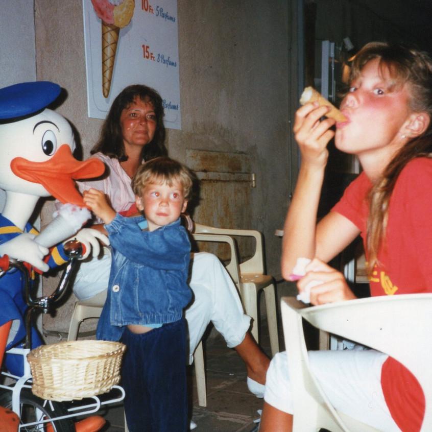 Jag, mamma och Victoria i St-Tropez