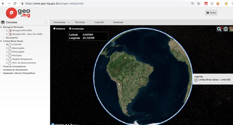 Geo.MG Mapa Interativo