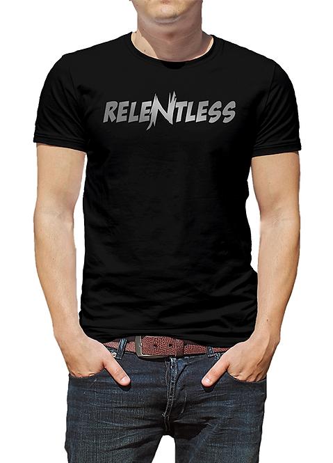 Men's Black T-shirt, ReleNtless logo