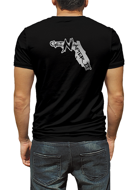 Men's Black T-shirt, Florida Silver logo