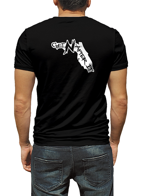 Men's Black T-shirt, Florida Pearlized White logo