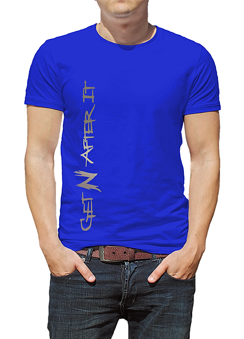 Men's Blue T-shirt, Tungsten logo