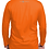 Thumbnail: Men's Orange Long-sleeved Shirt, Silver Gun logo