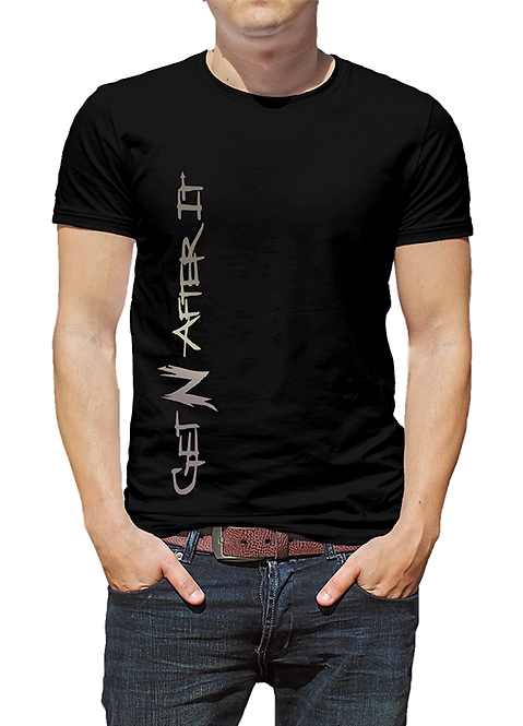 Men's Black T-shirt, Tungsten logo