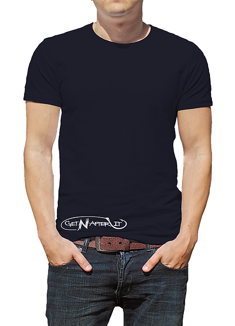Men's Navy T-shirt, Fishing Hook logo