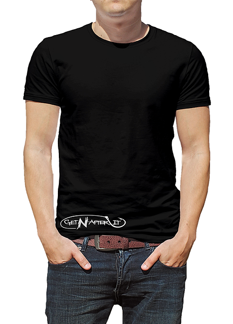 Men's Black T-shirt, Fishing Hook logo