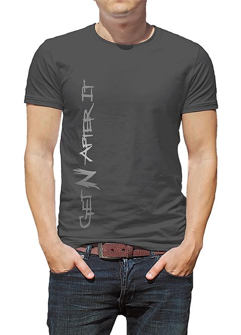 Men's Grey T-shirt, Silver logo