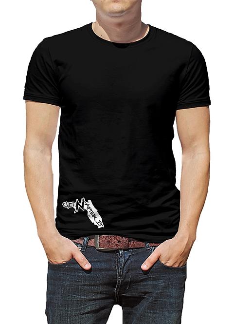 Men's Black T-shirt, Florida White logo