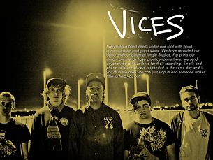 Vices recorded at Jungle Studios with Lachlan Mitchell