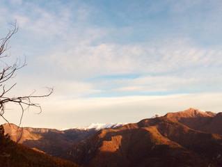La vue des hauteurs de notre village, déjà l'hiver qui s'installe.
