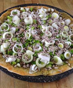 Pizza pour table d'hôtes