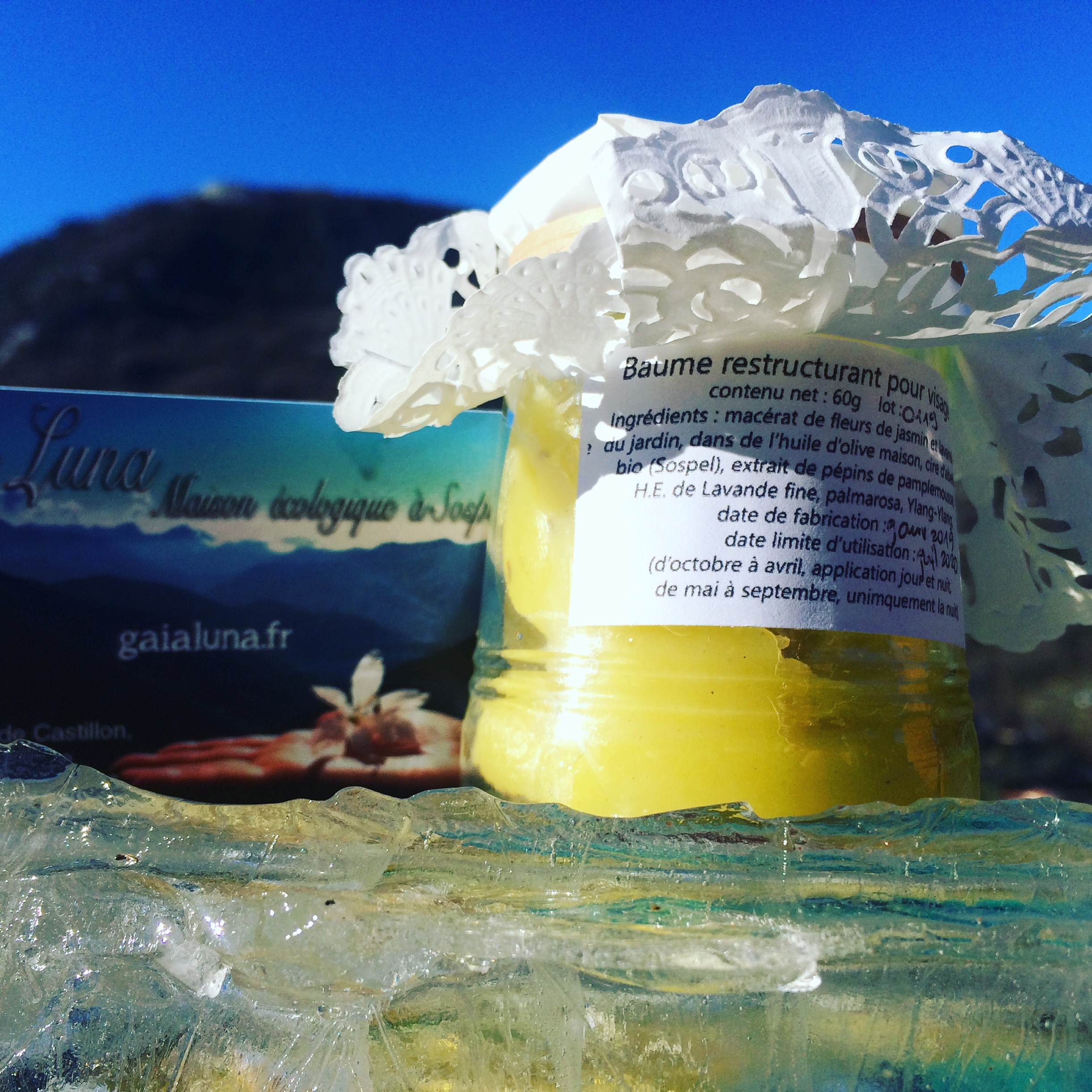 Home made balm from our olive oil