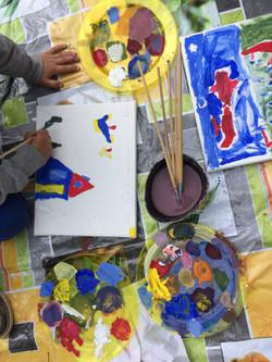 Painting workshops at Gaia Luna