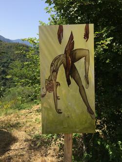 Un des tableaux de l'artiste