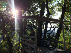 Cabaña para las bicis