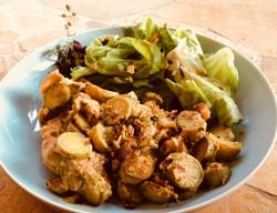 table d'hôtes, le plat végétarien
