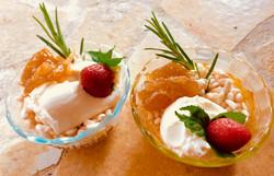 table d'hôtes, le dessert