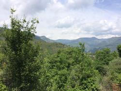 La vue vers les montagnes