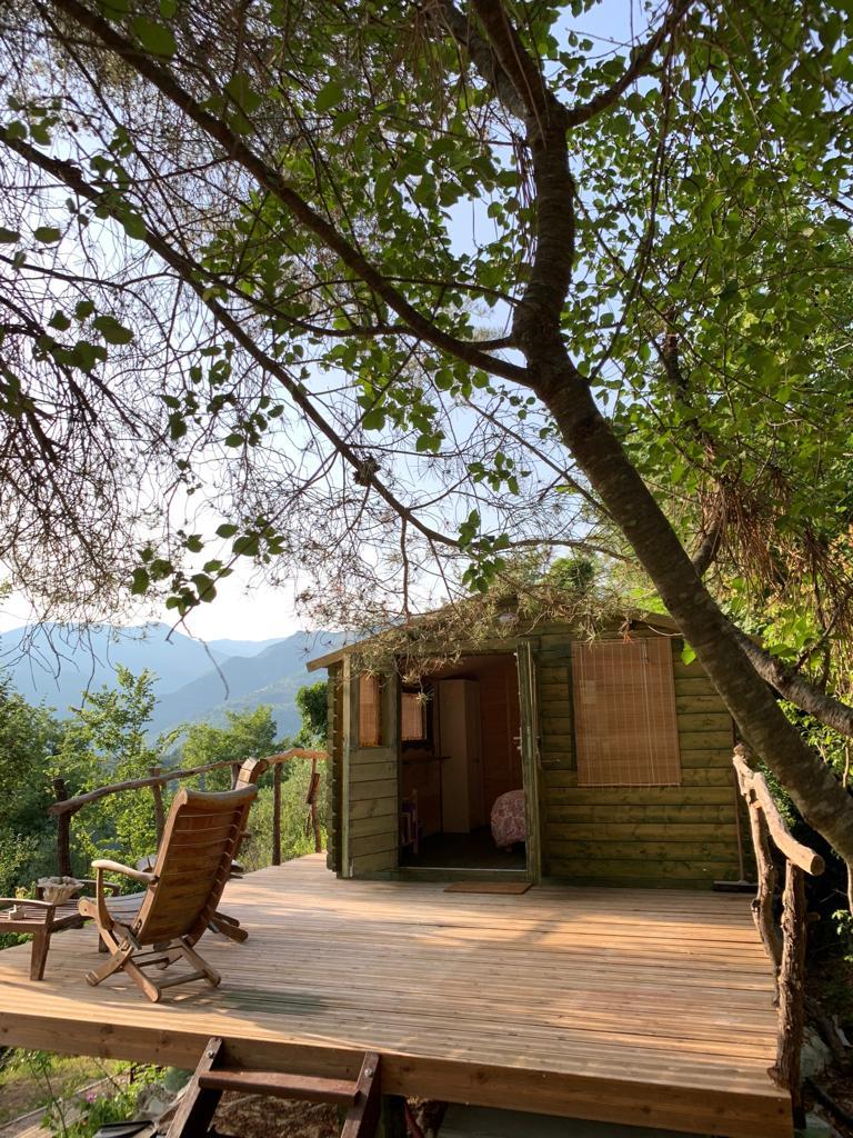 La cabane avec terrasse privative