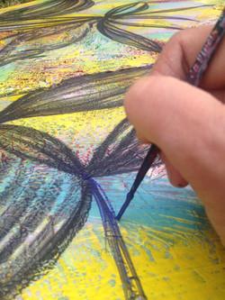 Painting at Gaia Luna