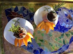 Dessert pour table d'hôtes