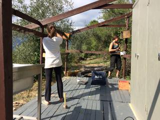 L'atelier en plein air prend forme définitive...