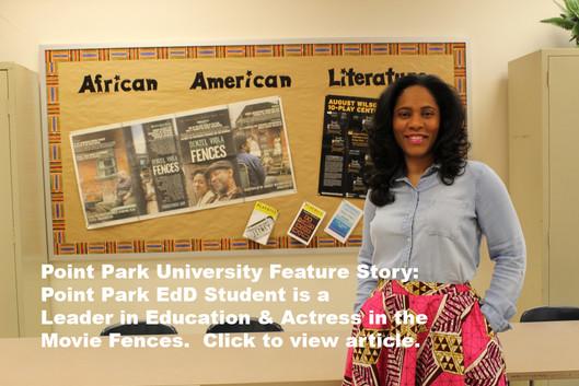 Pickett in the News Point Park University