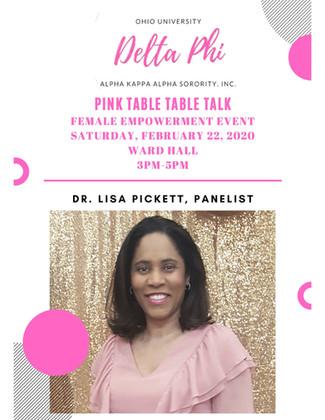 Ohio University Pink Table Talk