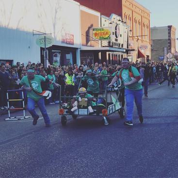 St. Patrick's Bed Race