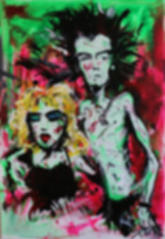 Sid And Nancy-Sex Blood & Rock N Roll series (size 40 x 60)