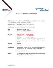 WDAM - Q1 2021 Conference Call Invitatio