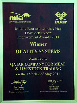 QUALITY SYSTEMS AWARDED