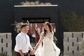bride and groom eloping in east texas