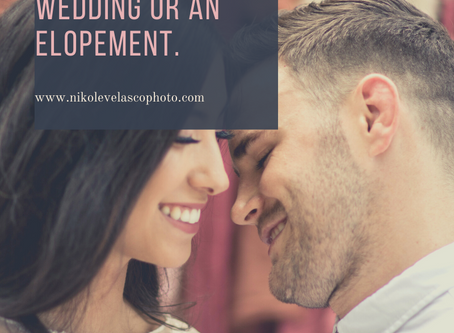 Choosing between a traditional wedding, intimate wedding or an elopement.