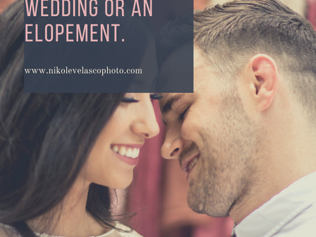 Choosing between a traditional wedding, intimate wedding or an elopement.