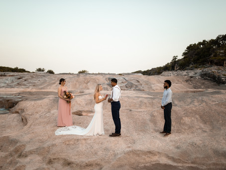 Julia and Kennon | Pedernales Falls Elopement | Texas Elopement Photographer