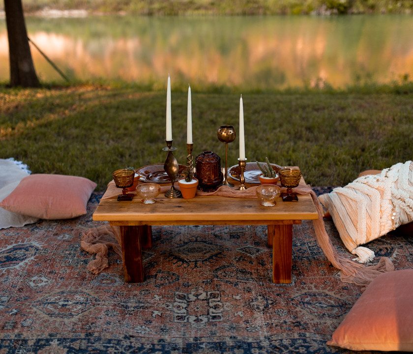 elopement picnic in texas